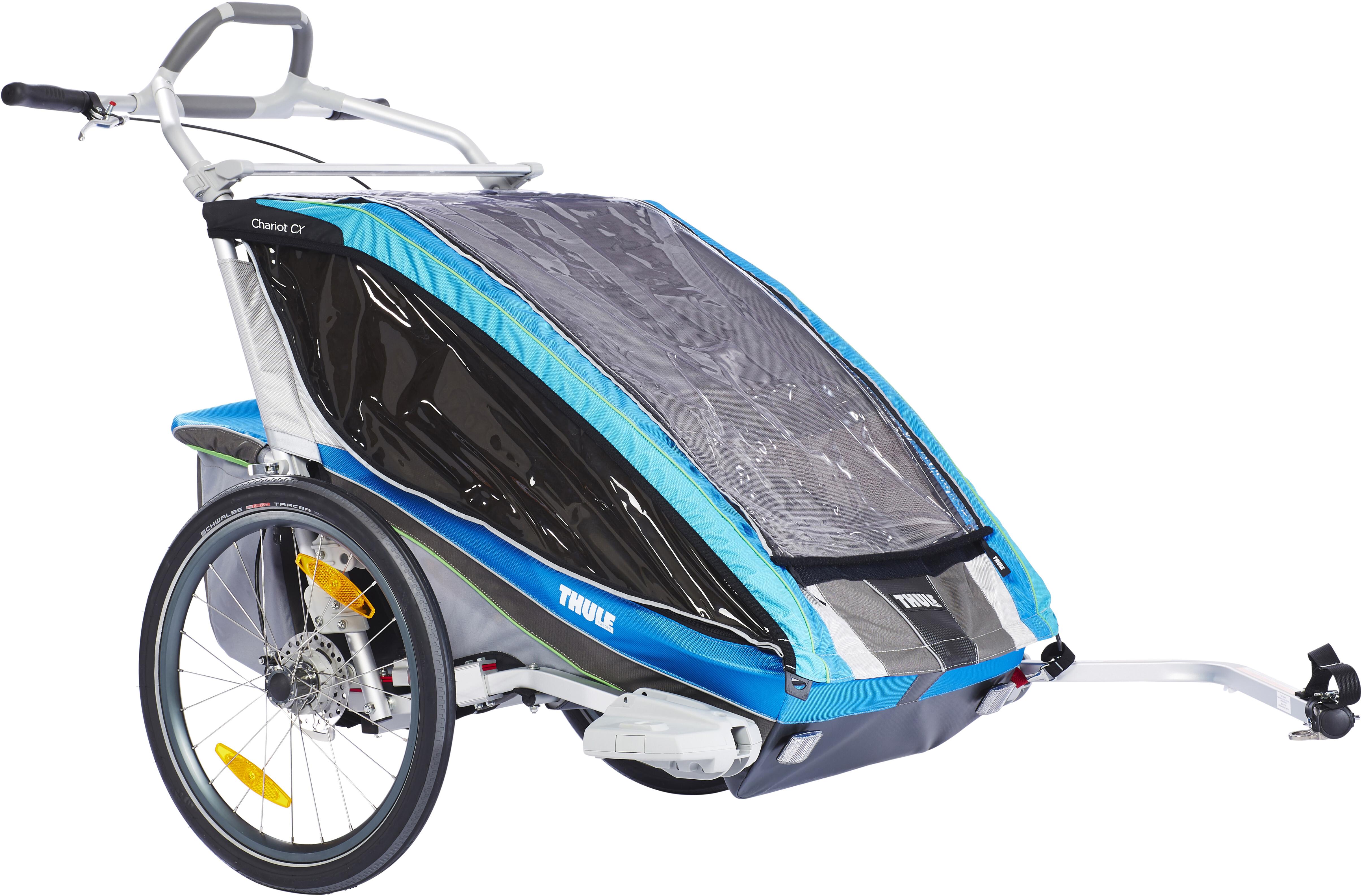 Klettergurt Gelbox : Thule chariot cx2 fahrradset blau campz.de